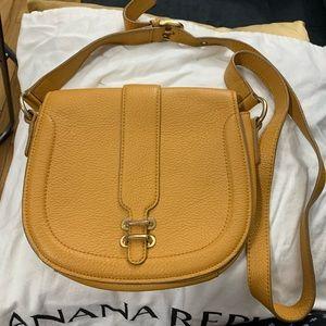 Banana Republic Leather Yellow  Crossbody Bag